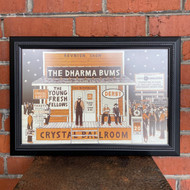 McMenamins Framed Poster - Crystal Ballroom The Dharma Bums