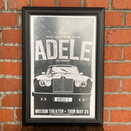 McMenamins Framed Poster - Mission Theater Adele - White