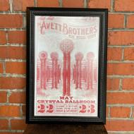McMenamins Framed Poster - Crystal Ballroom Avett Brothers & Special Guest