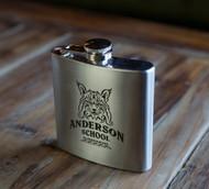 Anderson School Bobcat Flask - 6oz