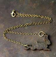 Black Rabbit Necklace