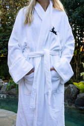 Edgefield Black Rabbit Velour Robe