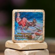 Grand Lodge Goat Lady Coaster