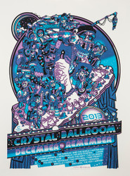 Crystal Ballroom December 2 Remember 2013 Guy Burwell Poster