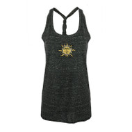 Flame Sun Twist Back Ladies Tank