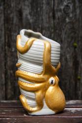 MunkTiki  Old Hangout Gold Octopus Mug