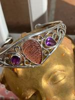 Pink tourmaline and Amethyst bracelet (1380881568)