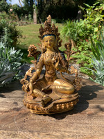 Green Tara gold plate statue (1449745362)