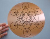 Copper Metatrons Cube disc (1453973573)