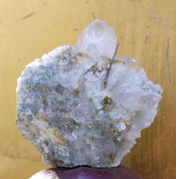 Brookite in quartz cluster (1319552898)