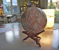 Orange Calcite Sphere (8161)