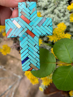 Turquoise cross Reduced (111486)