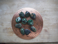 Azurite Malachite hand polished stones (111711)