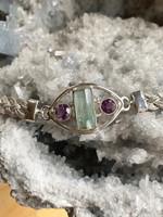 Aquamarine and Amethyst bracelet (111770)