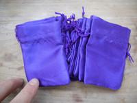Amethyst satin pouch (111788)