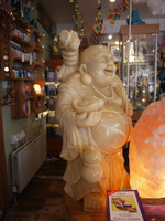 Orange Calcite Ho Min Buddha (112065)
