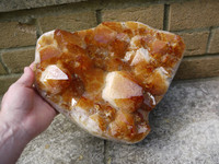 Citrine heart shaped cluster (112122)