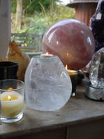 Quartz candle holder (112357)