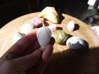 Scolecite set in silver (112821)