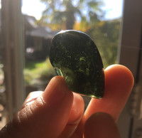 Moldavite hand polished (114162)