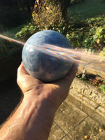 Blue calcite sphere (114212)
