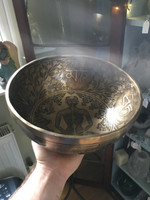 Etched hammered singing bowl (114438)