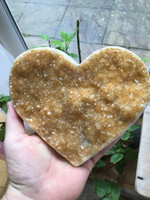 Citrine heart shaped cluster (114561)