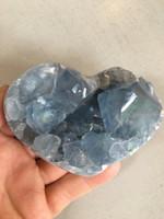 Celestite heart (114906)