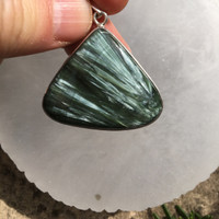 Seraphinite set in silver (115011)