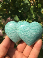 Amazonite double heart (115222)