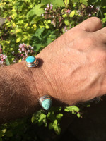 Turquoise torque bracelet (115305)