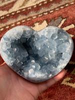Celestite heart (115535)