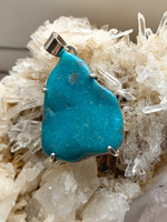 Turquoise set in silver (115673)