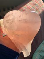 Rose quartz heart (115776)