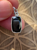 Green Tourmaline set in silver (115808)