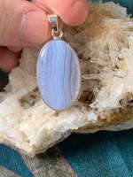 Agate Blue Lace pendant (115856)