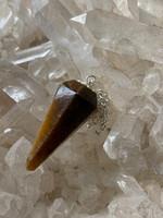 Gold Tigers eye pendulum (116023)