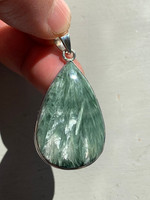 Seraphinite set in silver (116101)