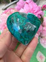 Chrysocolla heart (116212)