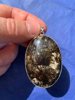 Seraphinite Golden set in silver (116383)