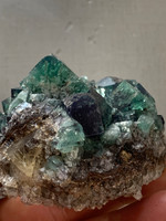 Green and Blue Fluorite cluster (116456)