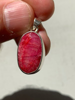 Ruby set in silver (116481)