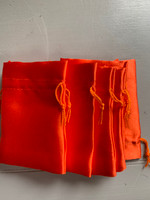Orange satin pouch (116507)