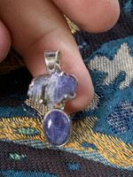 Tanzanite set in silver (116749)