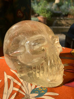 "Citrine skull ""the Light of MU"" (116840)"