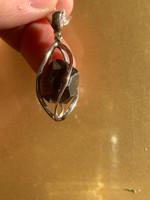 Garnet set in silver (116953)