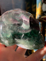 Green and Purple Fluorite skull (117092)