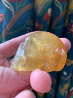 Golden Calcite skull (117136)