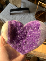 Amethyst heart shaped cluster (117260)