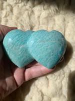 Amazonite double hearts (117376)